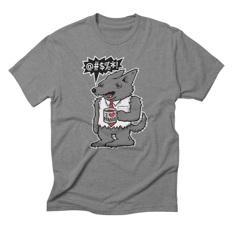 SwearWolf Men's Triblend T-shirt by Jayme T-shirts