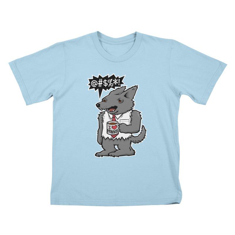 SwearWolf Kids T-Shirt by Jayme T-shirts