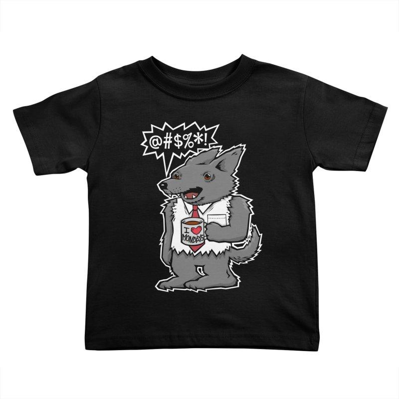 SwearWolf Kids Toddler T-Shirt by Jayme T-shirts