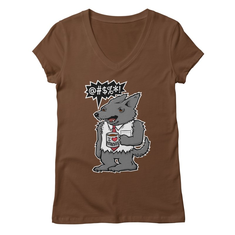 SwearWolf Women's V-Neck by Jayme T-shirts