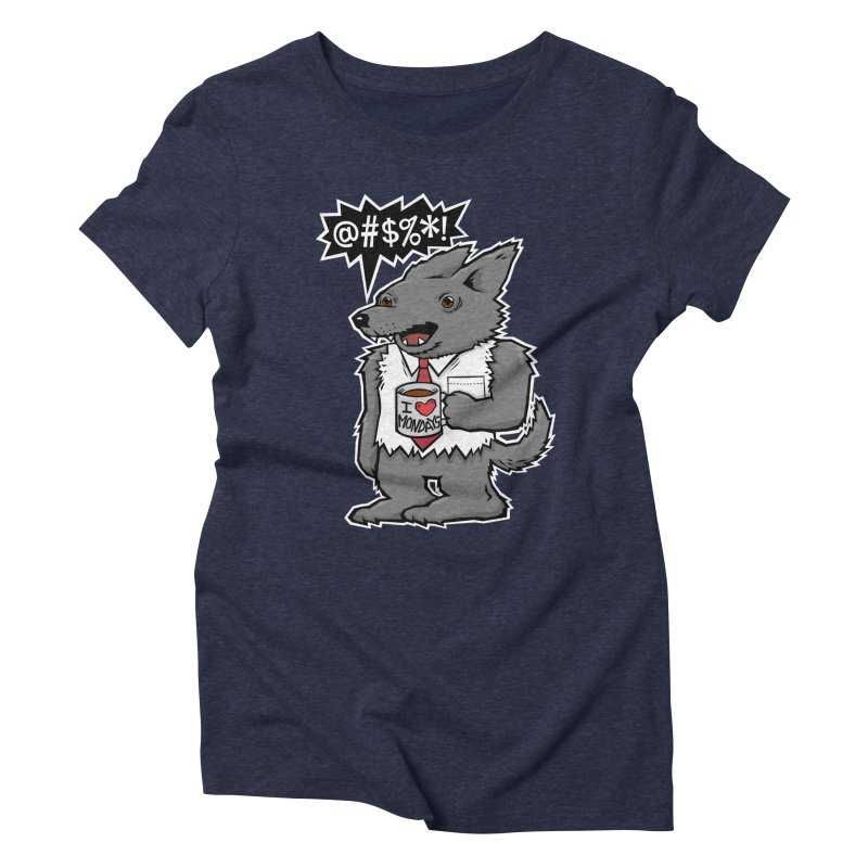 SwearWolf Women's Triblend T-shirt by Jayme T-shirts