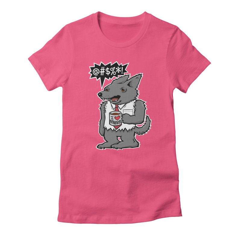 SwearWolf Women's Fitted T-Shirt by Jayme T-shirts