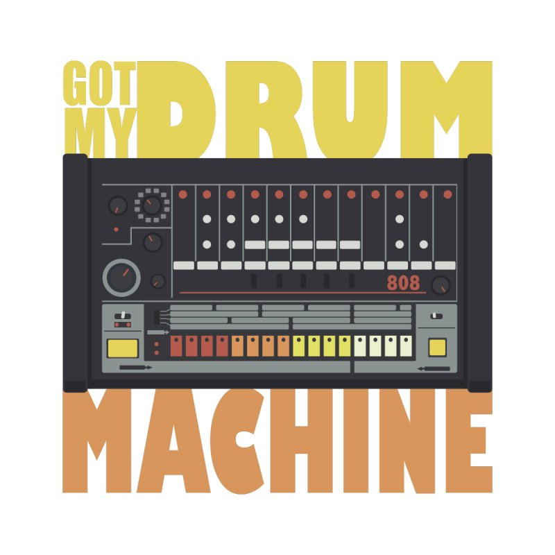 Drum Machine Men's Pullover Hoody by Jayme T-shirts