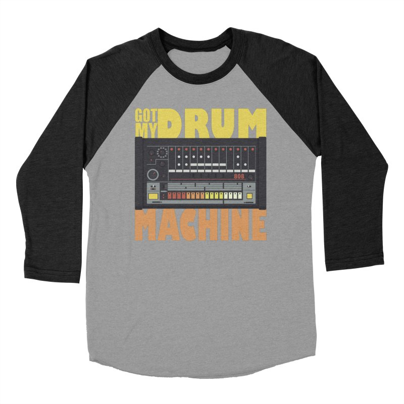 Drum Machine Men's Baseball Triblend T-Shirt by Jayme T-shirts