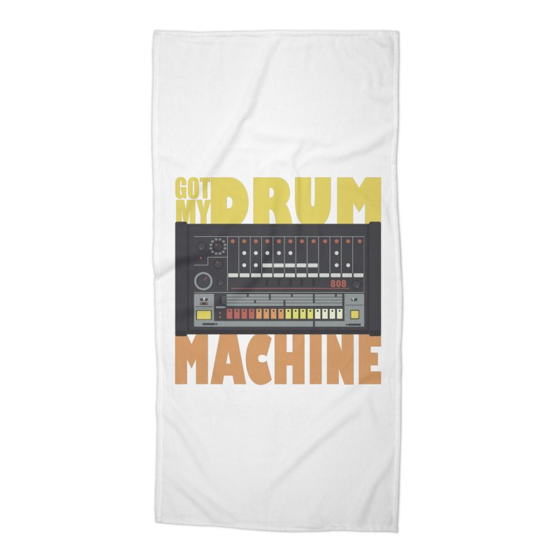 Drum Machine Accessories Beach Towel by Jayme T-shirts