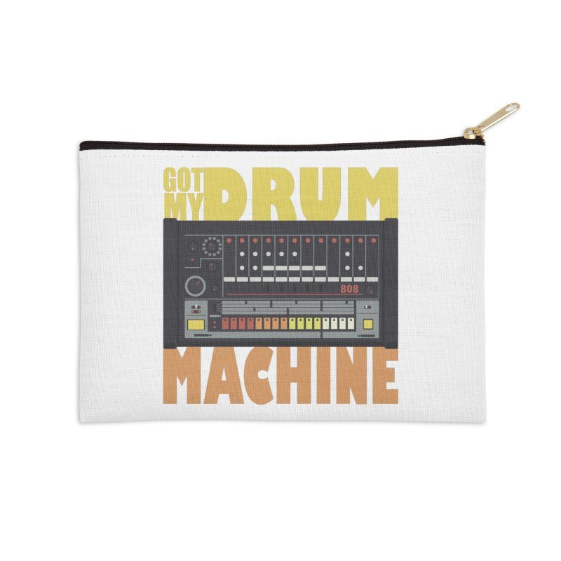 Drum Machine Accessories Zip Pouch by Jayme T-shirts