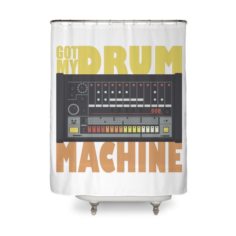 Drum Machine Home Shower Curtain by Jayme T-shirts