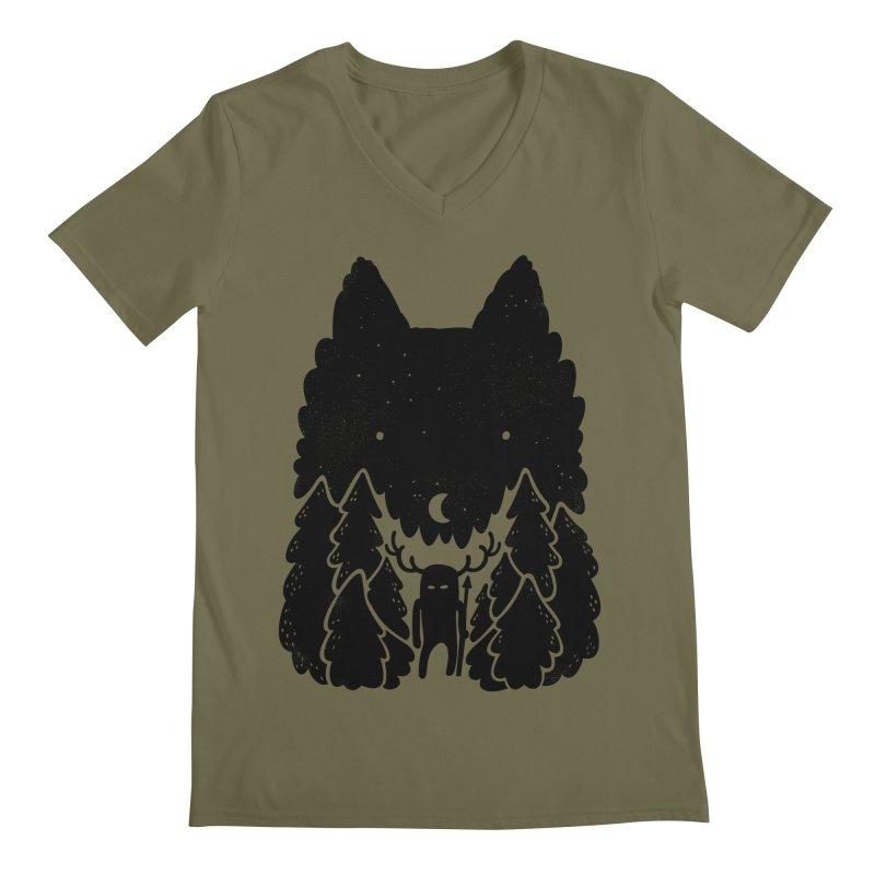 Amarok Men's V-Neck by Jayme T-shirts