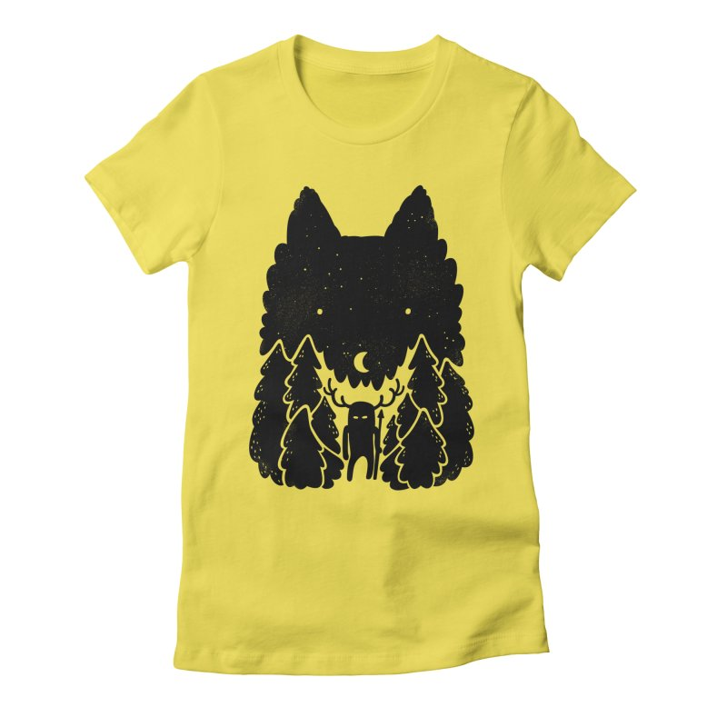 Amarok Women's Fitted T-Shirt by Jayme T-shirts