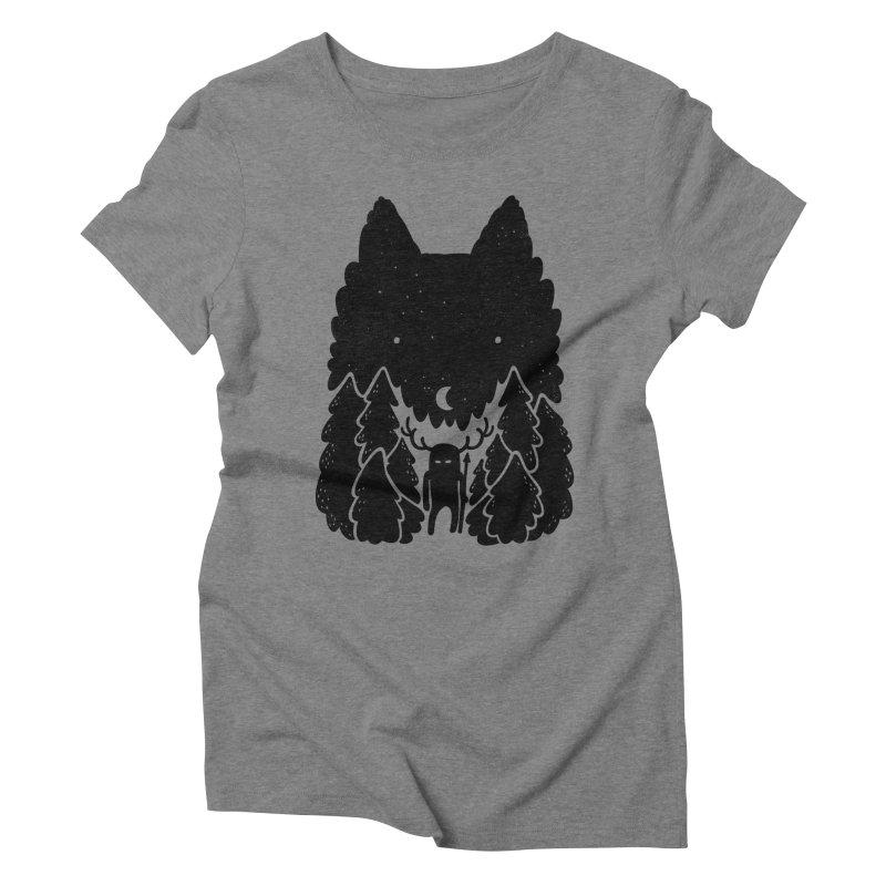 Amarok Women's Triblend T-shirt by Jayme T-shirts