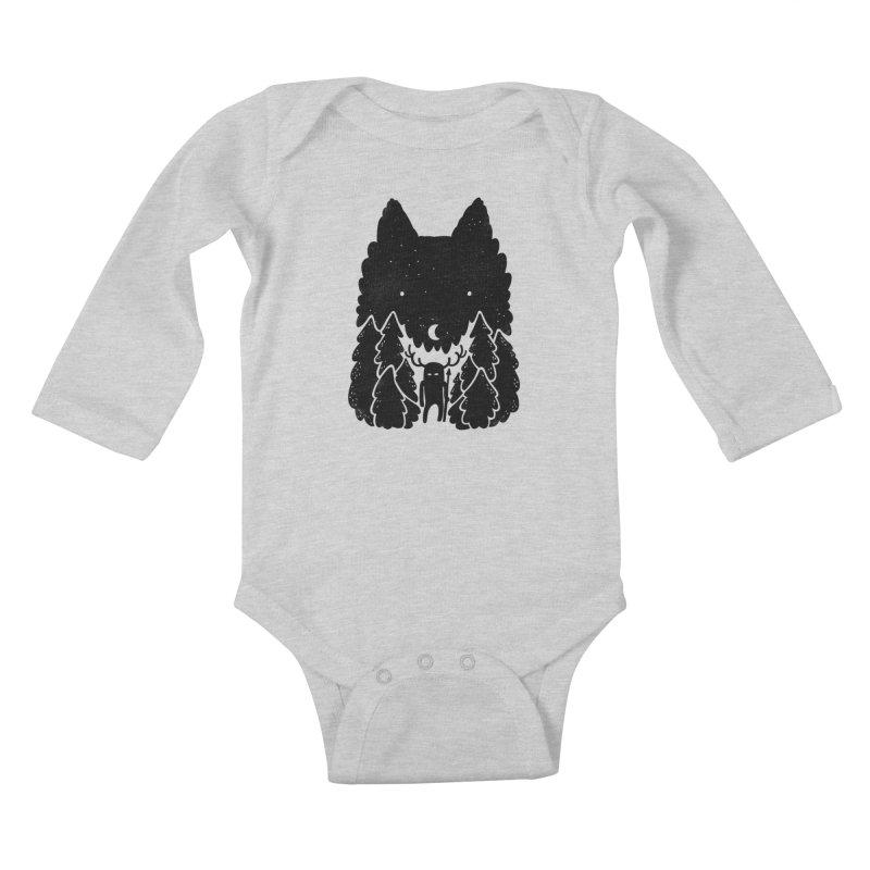 Amarok Kids Baby Longsleeve Bodysuit by Jayme T-shirts