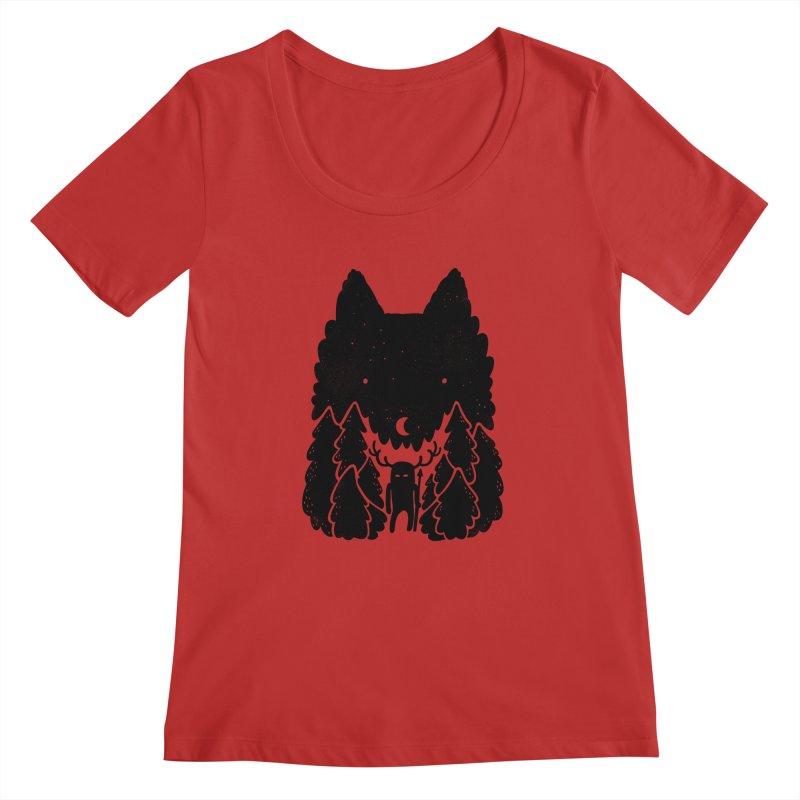 Amarok Women's Scoopneck by Jayme T-shirts