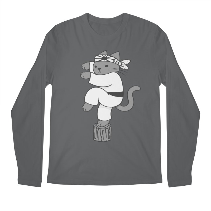 the Karate Cat Men's Longsleeve T-Shirt by Jayme T-shirts
