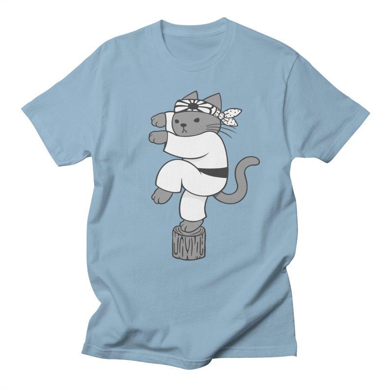 the Karate Cat Men's T-shirt by Jayme T-shirts