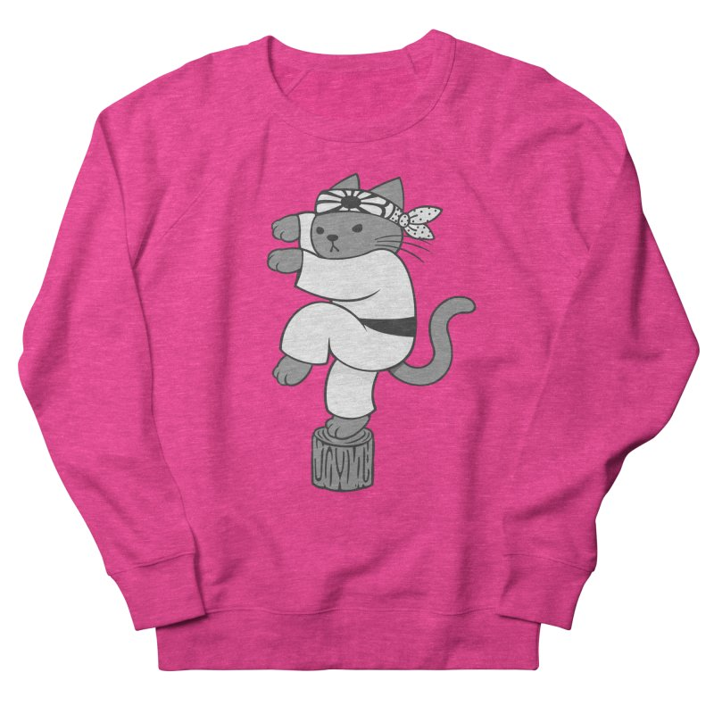 the Karate Cat Men's Sweatshirt by Jayme T-shirts