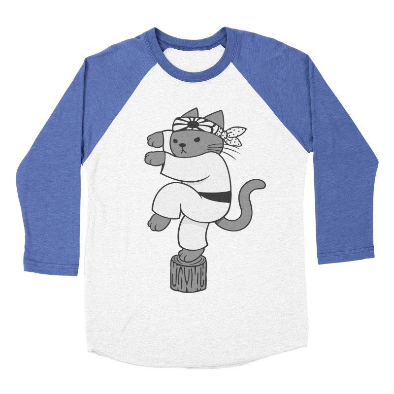 the Karate Cat Men's Baseball Triblend T-Shirt by Jayme T-shirts
