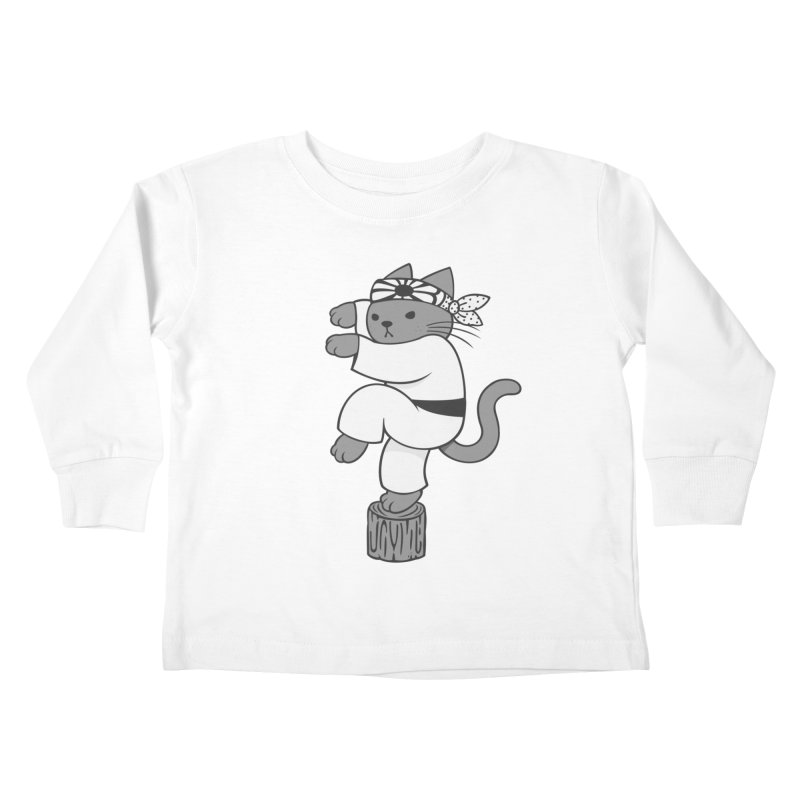 the Karate Cat Kids Toddler Longsleeve T-Shirt by Jayme T-shirts