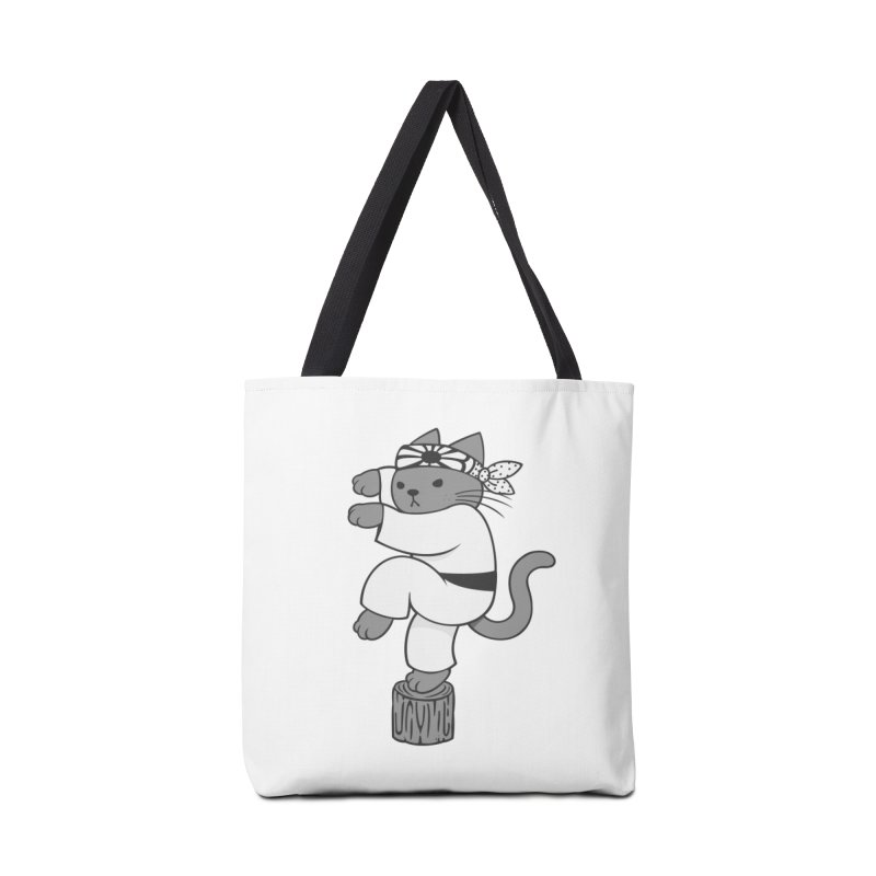 the Karate Cat Accessories Bag by Jayme T-shirts