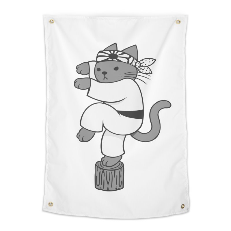 the Karate Cat Home Tapestry by Jayme T-shirts