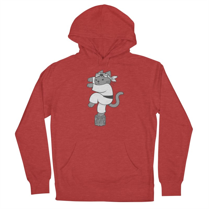 the Karate Cat Men's Pullover Hoody by Jayme T-shirts