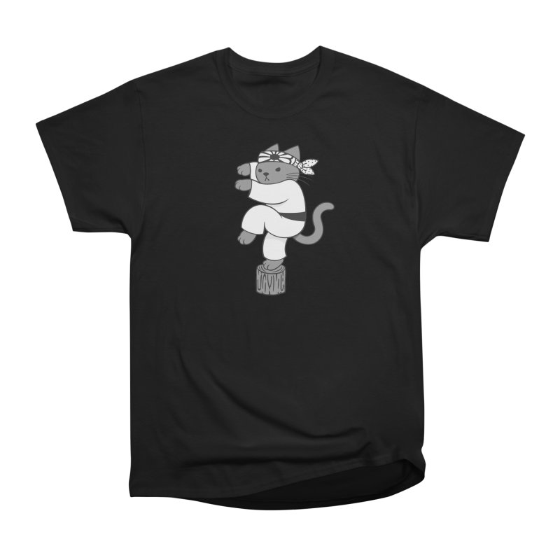 the Karate Cat Women's Classic Unisex T-Shirt by Jayme T-shirts