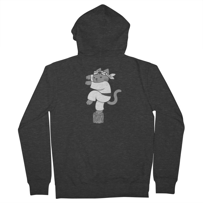 the Karate Cat Women's Zip-Up Hoody by Jayme T-shirts