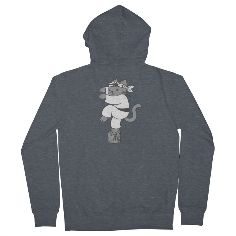 the Karate Cat Men's Zip-Up Hoody by Jayme T-shirts