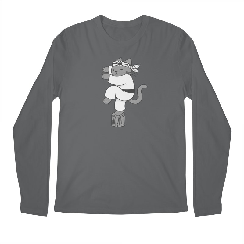 the Karate Cat Men's Longsleeve T-Shirt by Jayme T-shirts