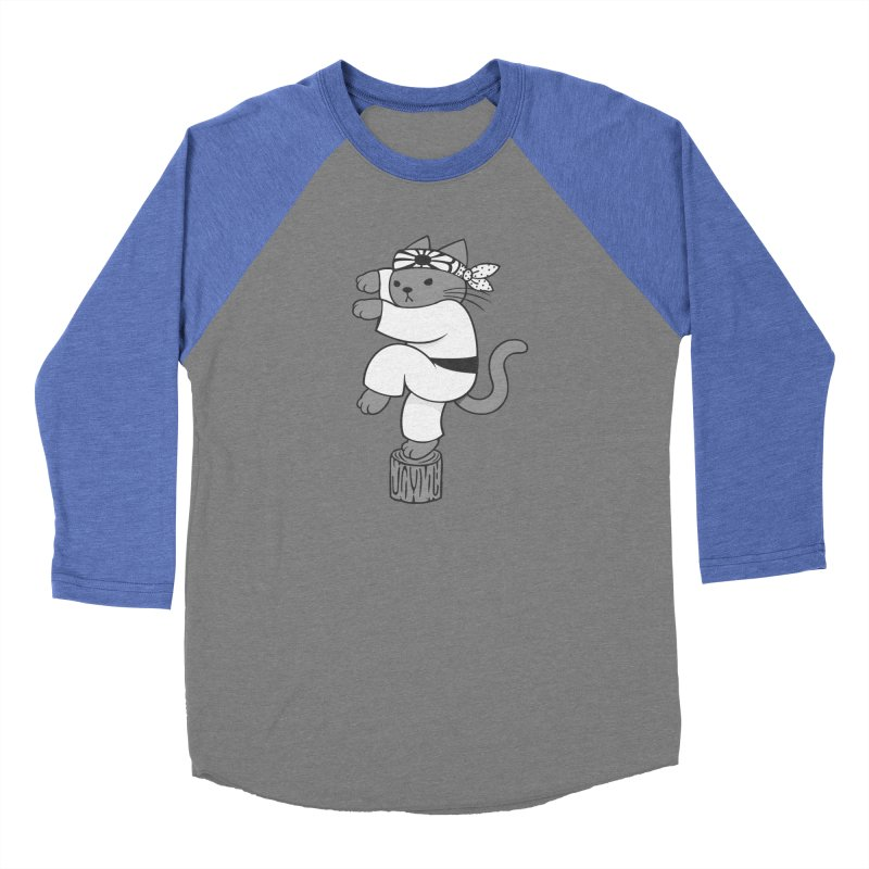 the Karate Cat Men's Baseball Triblend T-Shirt by Jayme T-shirts
