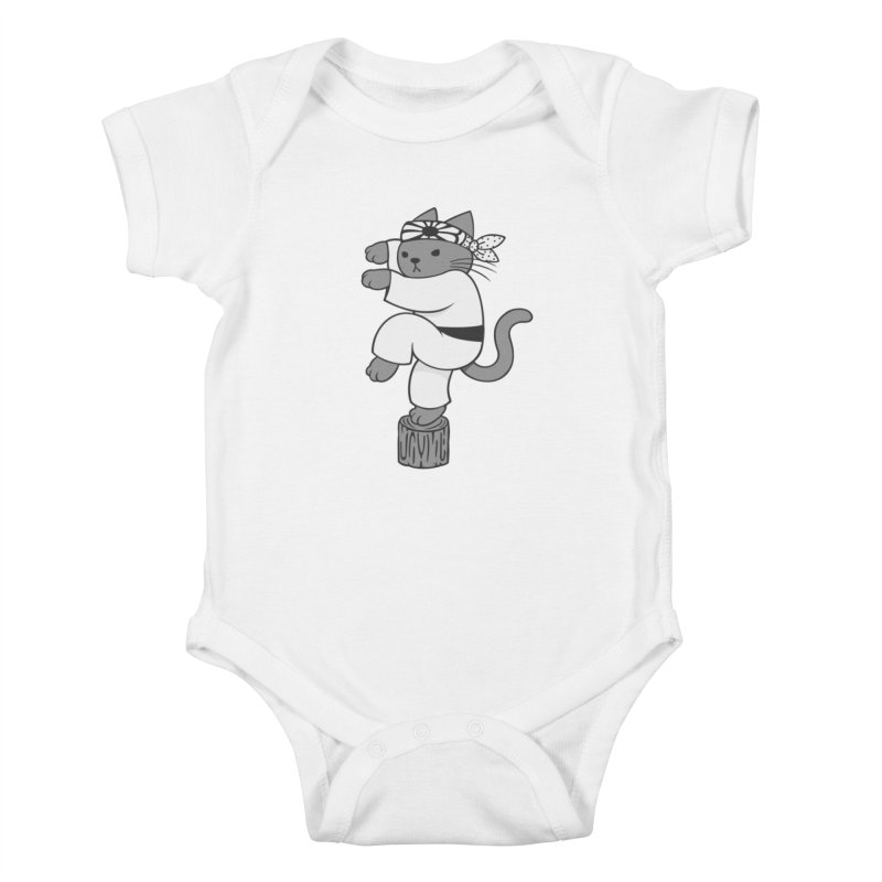 the Karate Cat Kids Baby Bodysuit by Jayme T-shirts