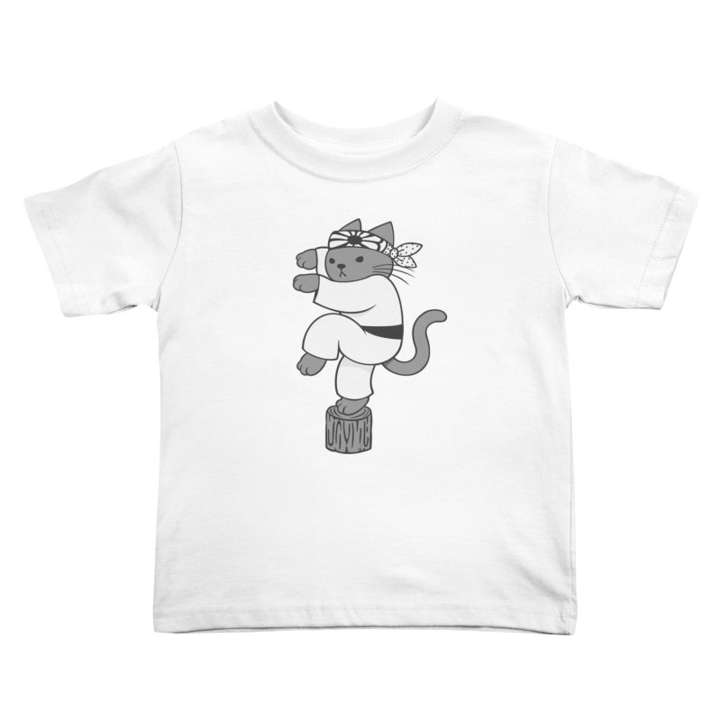 the Karate Cat Kids Toddler T-Shirt by Jayme T-shirts