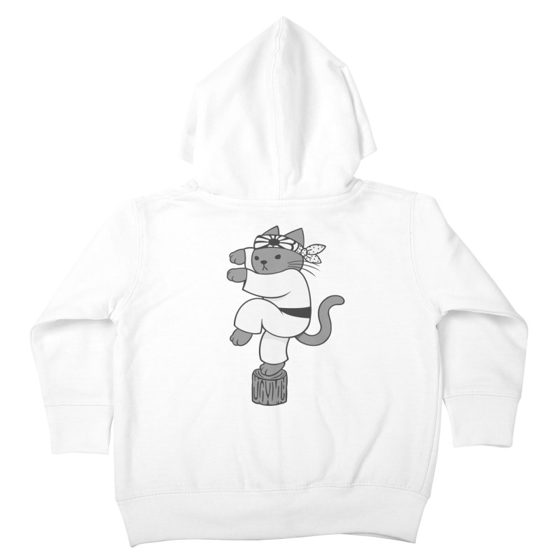 the Karate Cat Kids Toddler Zip-Up Hoody by Jayme T-shirts