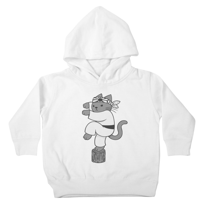 the Karate Cat Kids Toddler Pullover Hoody by Jayme T-shirts