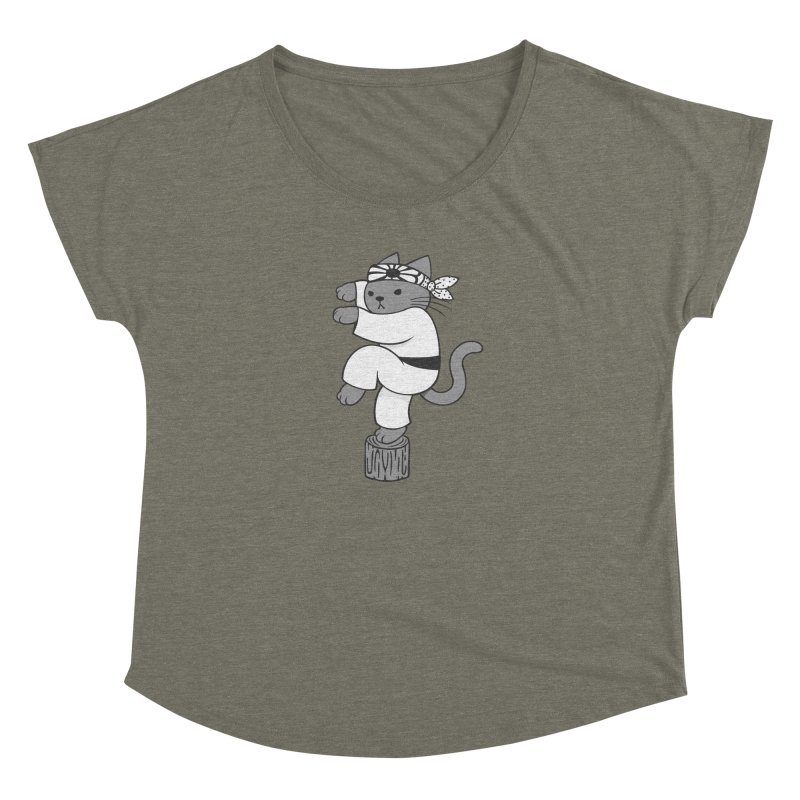 the Karate Cat Women's Dolman by Jayme T-shirts