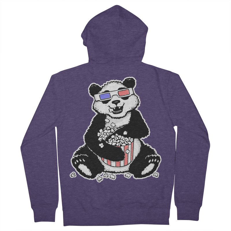 3-D Panda Men's Zip-Up Hoody by Jayme T-shirts