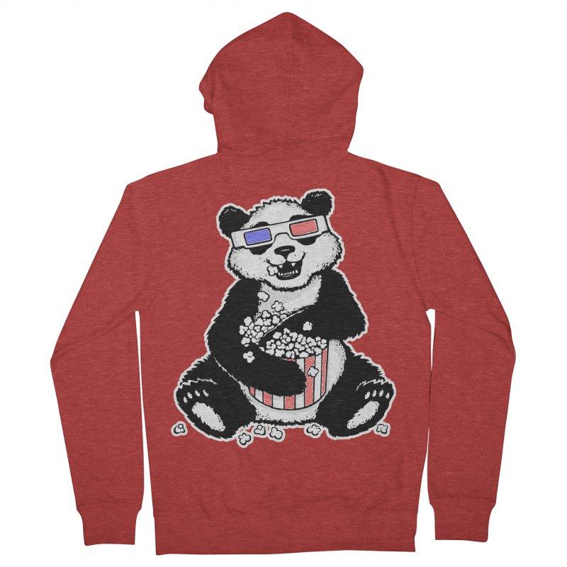3-D Panda Men's Zip-Up Hoody by Jayme T-shirts
