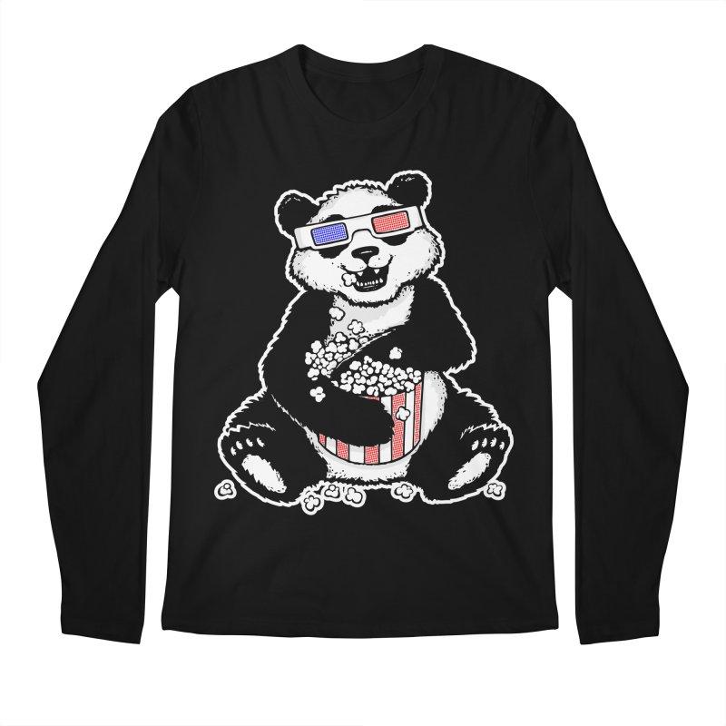 3-D Panda Men's Longsleeve T-Shirt by Jayme T-shirts