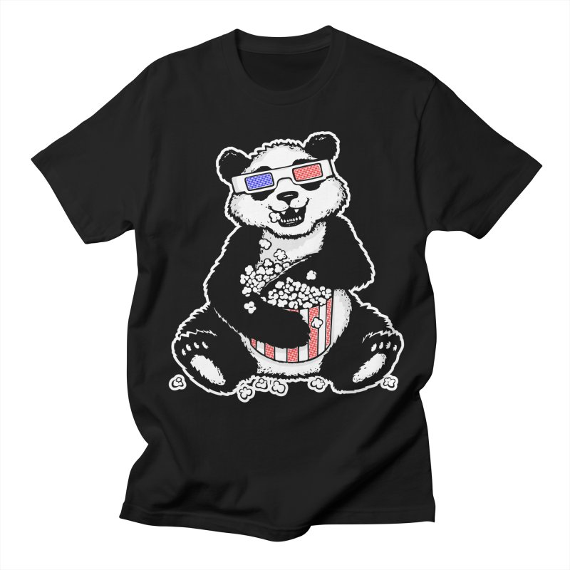 3-D Panda Women's Unisex T-Shirt by Jayme T-shirts