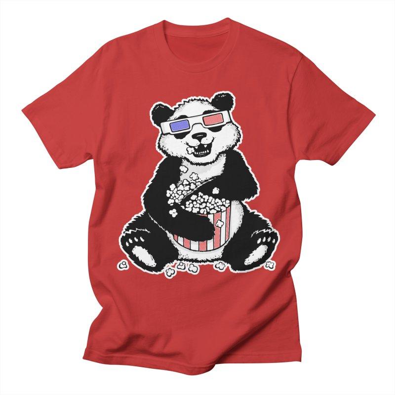 3-D Panda Men's T-shirt by Jayme T-shirts