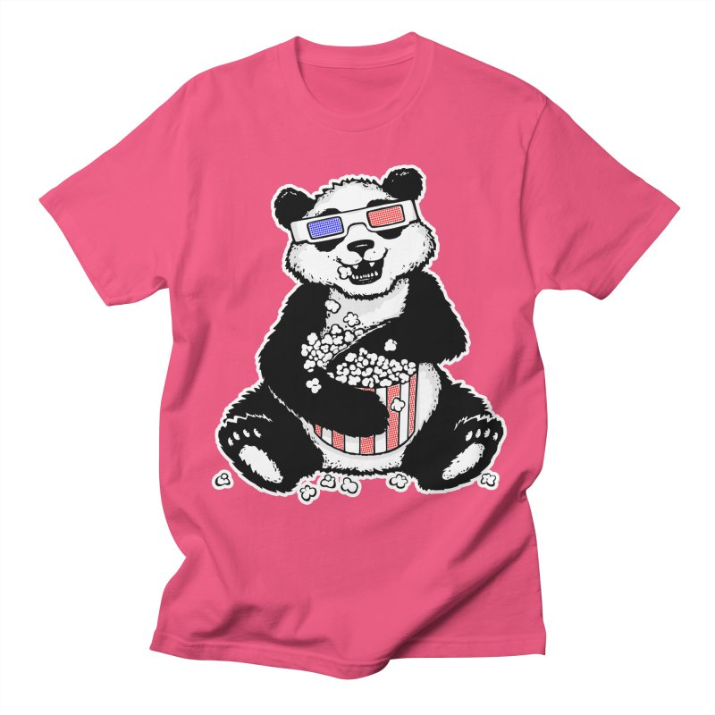 3-D Panda Men's T-shirt by Jayme T-shirts