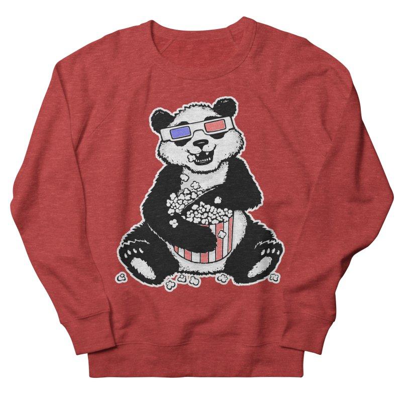 3-D Panda Men's Sweatshirt by Jayme T-shirts