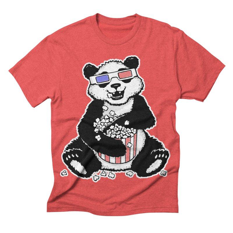 3-D Panda Men's Triblend T-shirt by Jayme T-shirts