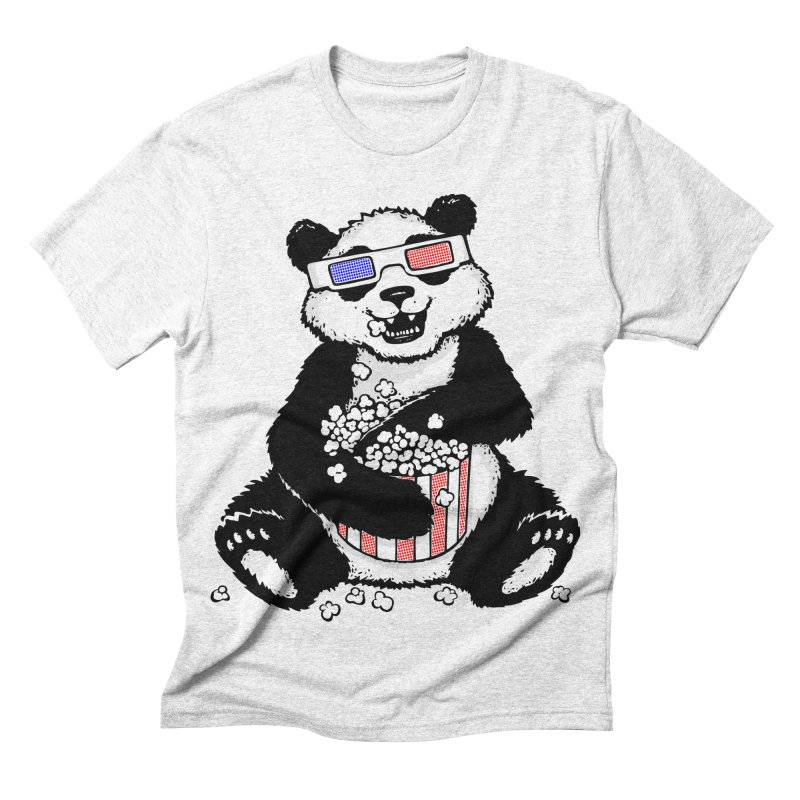 3-D Panda Men's Triblend T-shirt by Jayme T-shirts