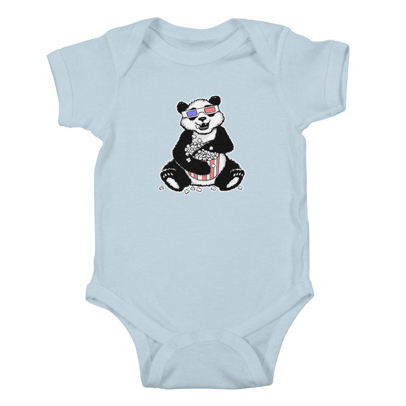 3-D Panda Kids Baby Bodysuit by Jayme T-shirts