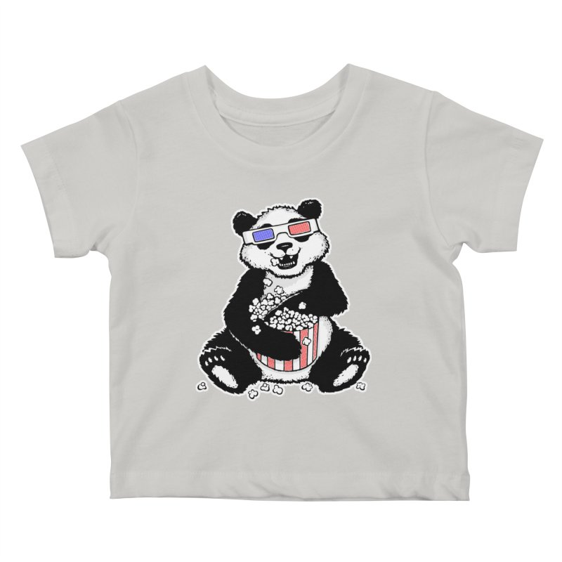 3-D Panda Kids Baby T-Shirt by Jayme T-shirts