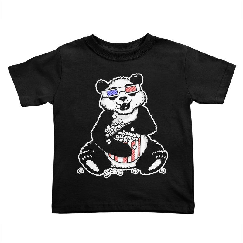 3-D Panda Kids Toddler T-Shirt by Jayme T-shirts