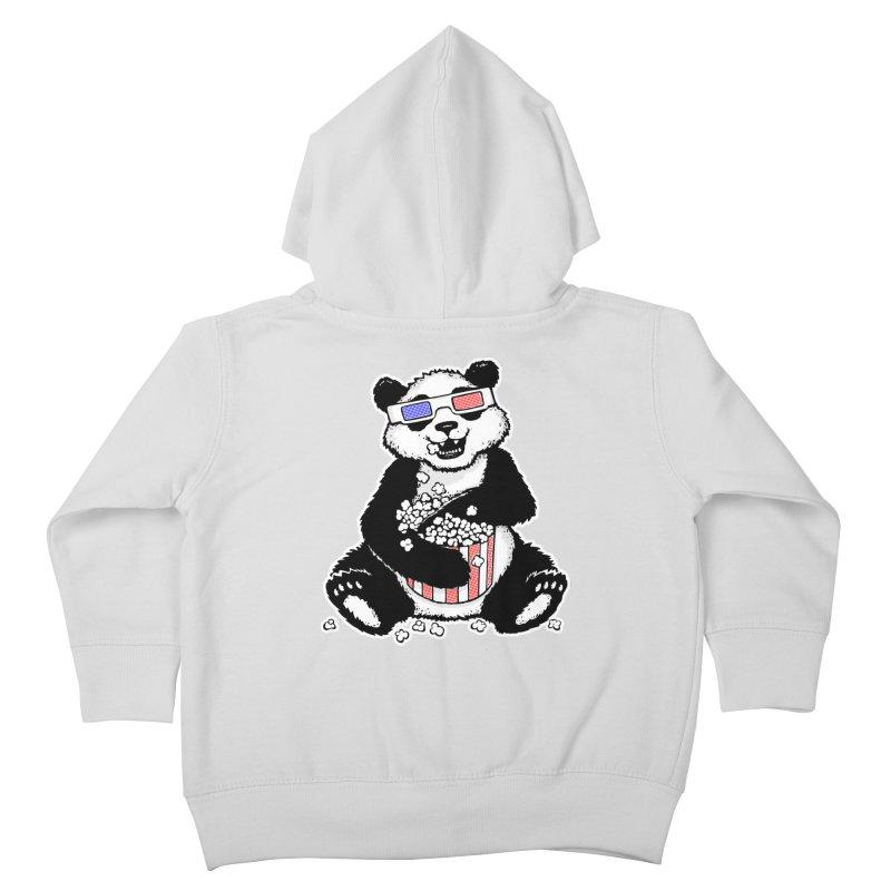 3-D Panda Kids Toddler Zip-Up Hoody by Jayme T-shirts