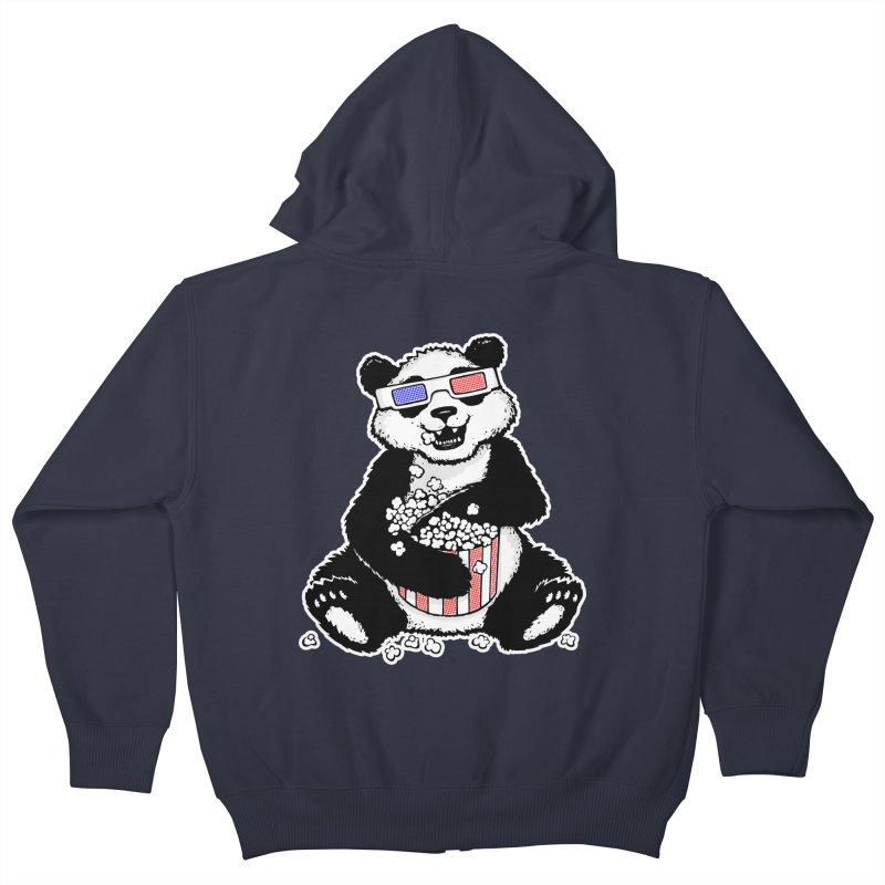 3-D Panda Kids Zip-Up Hoody by Jayme T-shirts