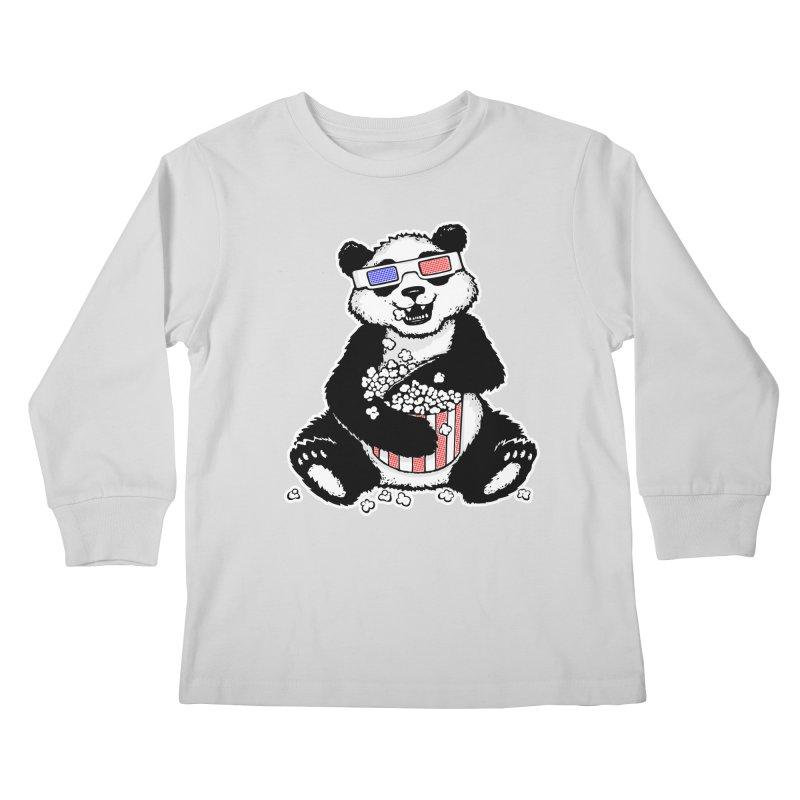 3-D Panda Kids Longsleeve T-Shirt by Jayme T-shirts