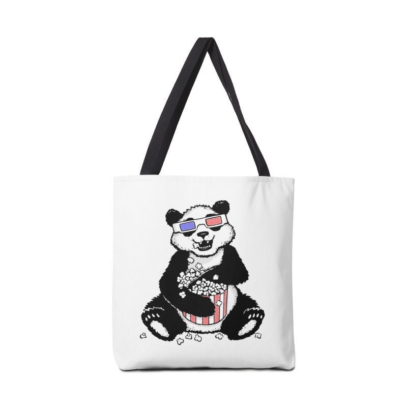 3-D Panda Accessories Bag by Jayme T-shirts